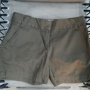 used J. Crew City Fit womens shorts brown size 2